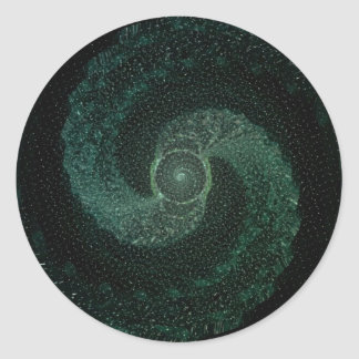 abstract sample abstract pattern classic round sticker