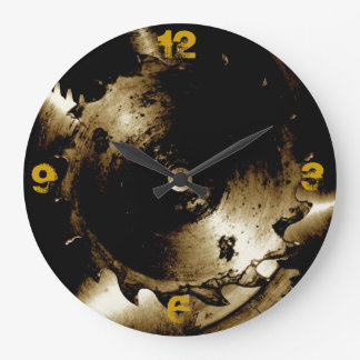 Abstract Saw Blades Large Clock