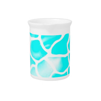 abstract scale, aqua beverage pitcher
