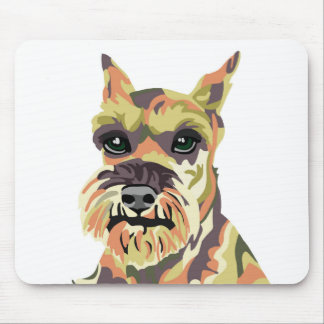 Abstract Schnauzer Mouse Pad
