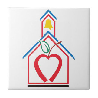 Abstract Schoolhouse Ceramic Tile