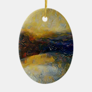 Abstract sci-fi alien worlds ceramic ornament