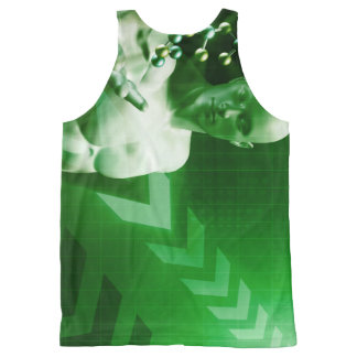 Abstract Science Background with Atomic Research All-Over-Print Tank Top