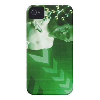 Abstract Science Background with Atomic Research iPhone 4 Covers