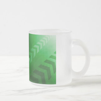 Abstract Science Background with Atomic Research Frosted Glass Coffee Mug