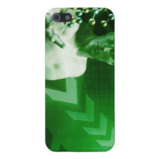 Abstract Science Background with Atomic Research iPhone 5/5S Case
