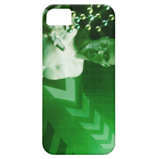 Abstract Science Background with Atomic Research iPhone 5 Cover