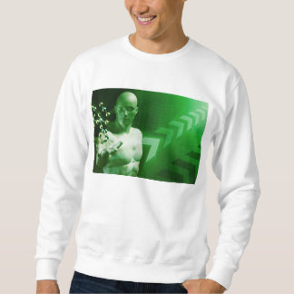 Abstract Science Background with Atomic Research Sweatshirt