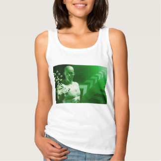 Abstract Science Background with Atomic Research Tank Top