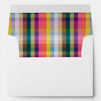 Abstract Scottish Plaid Envelope