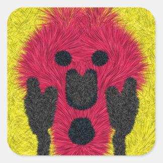 Abstract scream pattern square sticker
