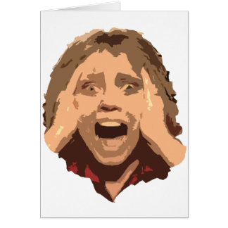 Abstract Screaming Woman Portrait Card