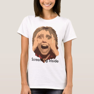 Abstract Screaming Woman Portrait T-Shirt