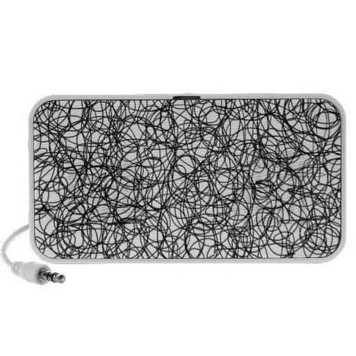 Abstract scribble mp3 speakers