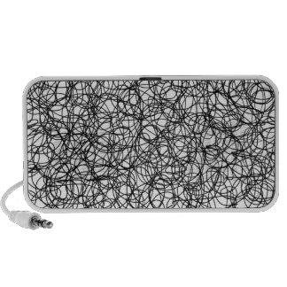 Abstract scribble mini speaker