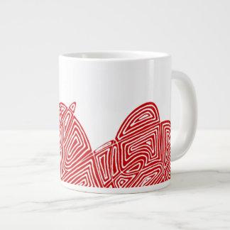 Abstract Scribbleprint Large Coffee Mug