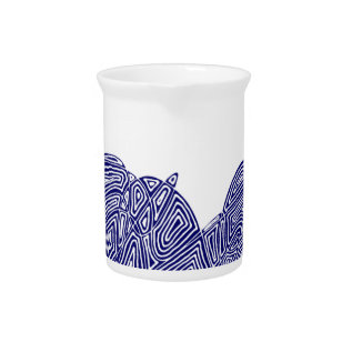 Abstract Scribbleprint Pitcher at Zazzle