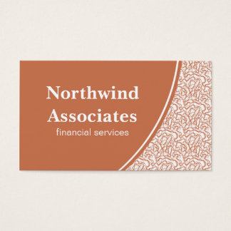 Abstract Scribbles Business Card, Orange Business Card