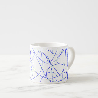 Abstract scribbling espresso cup