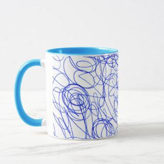 Abstract scribbling mug