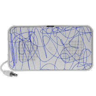 Abstract scribbling portable speaker