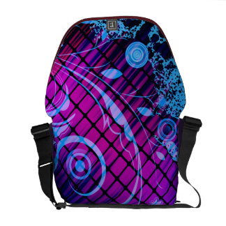 Abstract Scroll Grunge Splatter of Colors Courier Bags