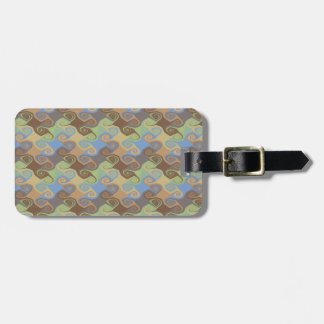 ABSTRACT SCROLL LUGGAGE TAG