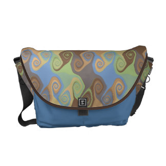 ABSTRACT SCROLL COURIER BAG