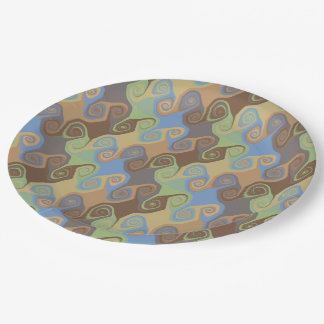 ABSTRACT SCROLL 9 INCH PAPER PLATE