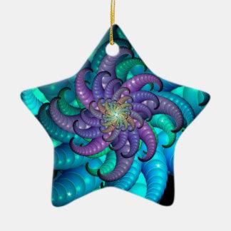 Abstract Sea Anemone Fractal Art Christmas Ornaments