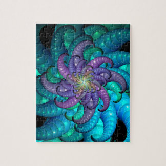 Abstract Sea Anemone Fractal Art Puzzle