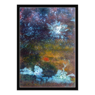 Abstract, Sea at Night. Card