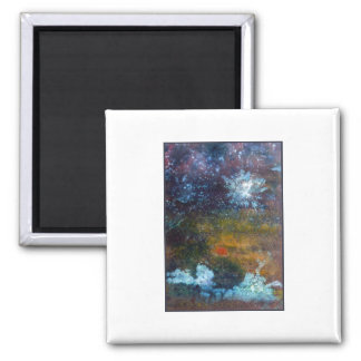 Abstract, Sea at Night. 2 Inch Square Magnet