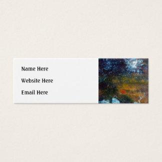 Abstract, Sea at Night. Mini Business Card