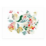 Abstract sea coral post card
