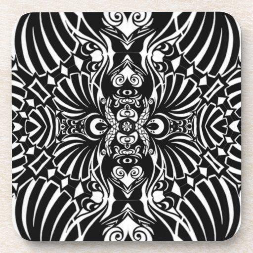 Abstract Sea Shells Coaster