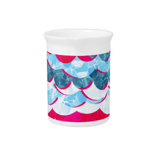 Abstract Sea Waves Design Drink Pitcher