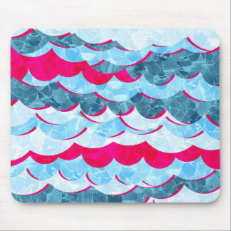 Abstract Sea Waves Design Mouse Pad