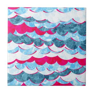 Abstract Sea Waves Design Tile