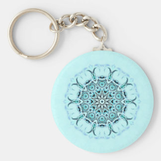 abstract seafoam keychain