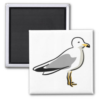 Abstract Seagull 2 Inch Square Magnet
