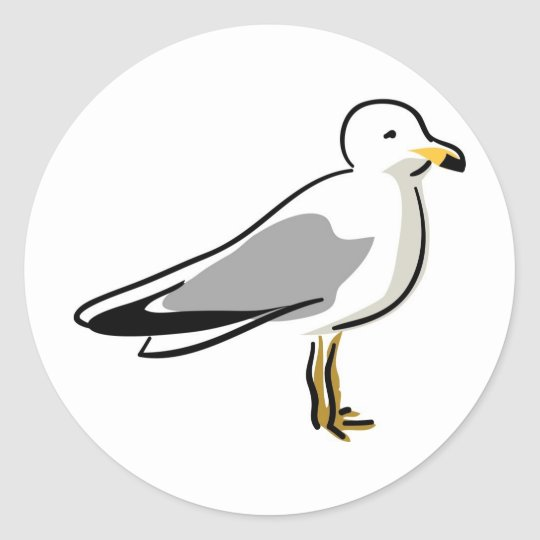 Abstract Seagull Classic Round Sticker