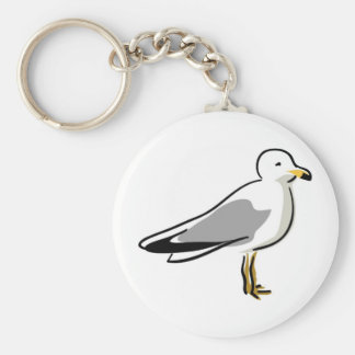 Abstract Seagull Keychain