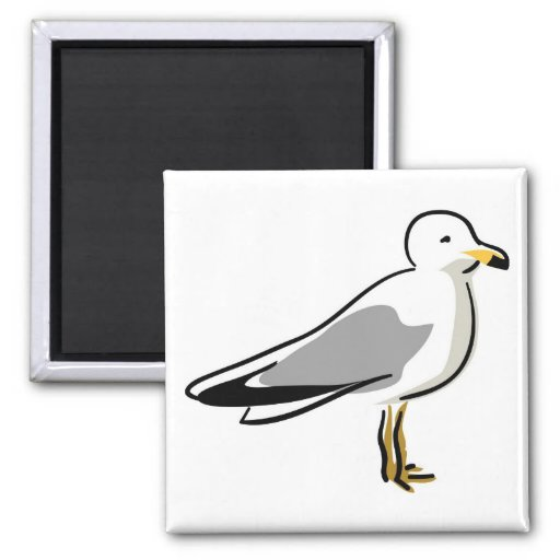 Abstract Seagull Fridge Magnets