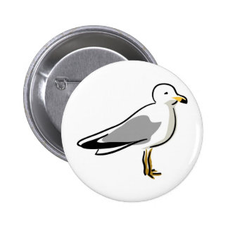 Abstract Seagull Pinback Button
