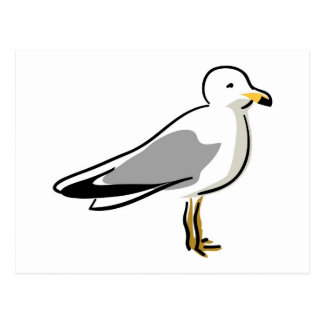 Abstract Seagull Postcard
