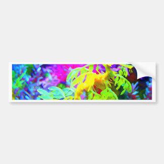 Abstract Seahorse Bumper Sticker
