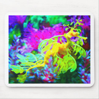 Abstract Seahorse Mouse Mats