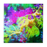Abstract Seahorse Small Square Tile