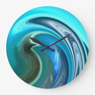Abstract Seahorse Wall Clock